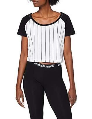 Urban Classic Women's Ladies Cropped Baseball Tee T-Shirt,XS