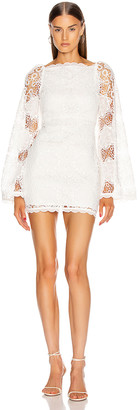 Alice McCall Diamond Veins Mini Dress in Porcelain | FWRD