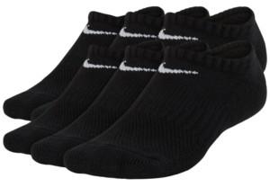 Nike 6-Pk. No-Show Cushioned Crew Socks, Big Boys