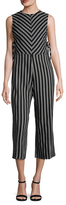 Lucca Couture Stripe Cropped Jumpsuit