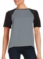 Calvin Klein Studded Raglan Short Sleeved Hi-Lo Top