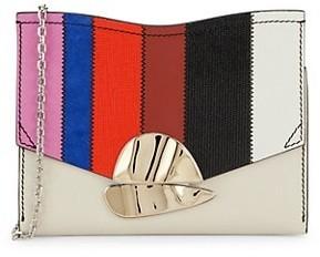Proenza Schouler Curl Chain Colorblock Leather Crossbody Bag
