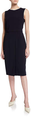 Max Mara Farad Belted Sleeveless Cady Dress