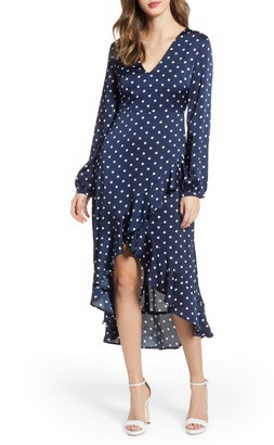 Endless Rose Polka Dot High/Low Maxi Dress