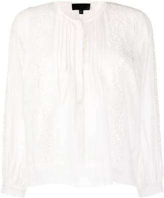 Nili Lotan Embroidered Blouse