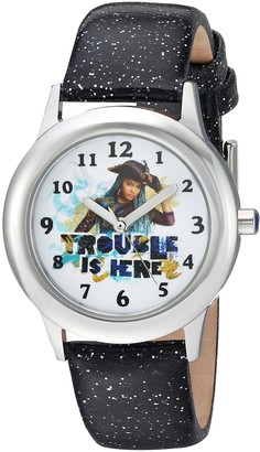 Disney Girls Descendants 2 Stainless Steel Analog-Quartz Watch with Leather-Synthetic Strap