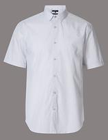 Autograph Pure Cotton Slim Fit Textured Shirt