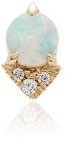 Lizzie Mandler Fine Jewelry yellow gold opal diamond earrings