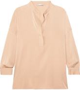 Vince Stretch-silk Blouse - Beige