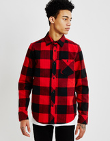 The Hundreds Highland Long Sleeve Flannel Shirt Red