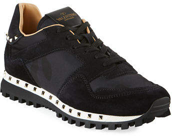 3f9495658097d Valentino Black Women's Sneakers - ShopStyle