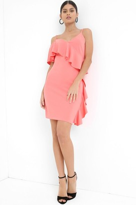 Girls On Film Outlet Coral Midi Dress