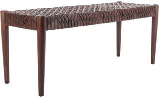 Safavieh Bandelier Leather Weave Bench
