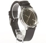Komono 'Winston' Quartz Stainless Steel and Leather Dress Watch, Color:Black (Model: KOM-W2892)