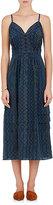 Derek Lam Women's Zigzag-Print Silk Sleeveless Dress-NAVY