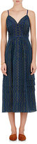 Derek Lam WOMEN'S ZIGZAG-PRINT SILK SLEEVELESS DRESS