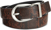 Style&Co. Style & Co. Reversible Snake-Embossed Skinny Belt, Only at Macy's