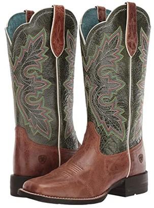 Ariat Breakout (Dark Tan/Treetop Green) Cowboy Boots
