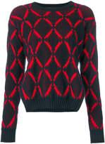 Versace diamond print jumper