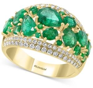 Effy Emerald (3-1/10 ct. t.w.) & Diamond (3/8 ct. t.w.) Statement Ring in 14k Gold