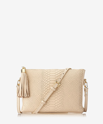GiGi New York Hailey Crossbody, Almond Embossed Python