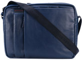 Borbonese front zip shoulder bag - men - Leather - One Size