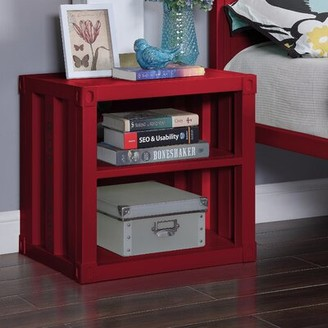 Zoomie Kids Otero Nightstand Color: Red