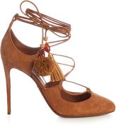 Dolce & Gabbana Pom-pom tassel suede pumps