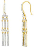 Zales 1/2 CT. T.W. Diamond Triple Linear Bar Drop Earrings in 10K Gold
