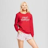 Xhilaration Women's Treat Yourself 4pc Gifting Pajama Set Really Red