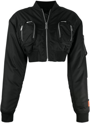 Heron Preston Cropped Bomber Jacket
