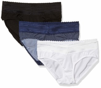 Warner's Warners Women's No Pinching No Problems 3 Pack Micro Hipster with Lace Panties