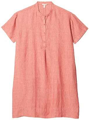 Eileen Fisher Petite Mandarin Collar Dress (Bright Standstone) Women's Dress