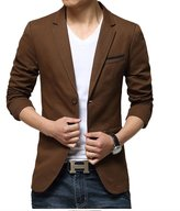 Zity Men's Summer Business Casual Youth Thin Blazer Jacket