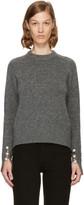 3.1 Phillip Lim Grey Pearl Cuff Sweater