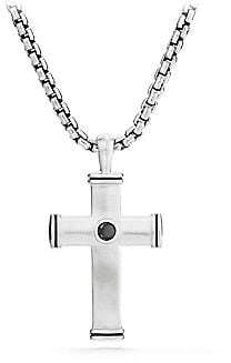 David Yurman Men's Streamline Sterling Silver Diamond Cross Pendant