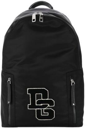 Dolce & Gabbana Logo Patch Backpack