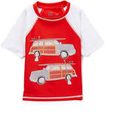 Nano Red & White-Sleeve Rashguard - Infant, Toddler & Boys