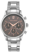 Vince Camuto Three-Eye Dial Stainless Bracelet Watch
