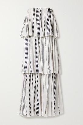 Lemlem Tigist Tiered Cotton-blend Gauze Maxi Dress - White