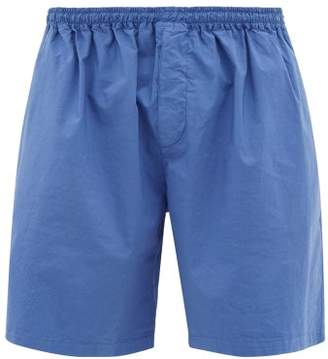 Raey Wide-leg Cotton-blend Shorts - Mens - Dark Purple