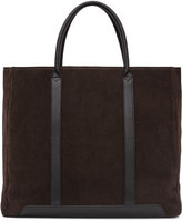 Reiss Reiss Tanner - Leather Tote Bag In Brown