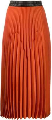 Luisa Cerano pleated midi skirt