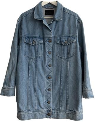 AllSaints Blue Cotton Jacket for Women