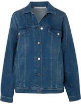 Stella McCartney Oversized Distressed Denim Jacket - Mid denim