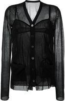 Sacai v-neck sheer blouse