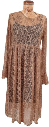 BEIGE Non Signe / Unsigned Lace Dress for Women
