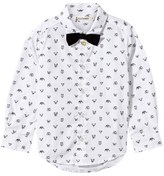 Billybandit White All Over Print Shirt with Bow Tie
