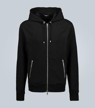 Balmain Eagle printed hooded sweatshirt
