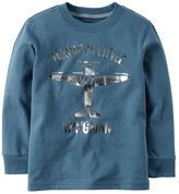 Carter's Long-Sleeve Little Wingman Graphic Tee